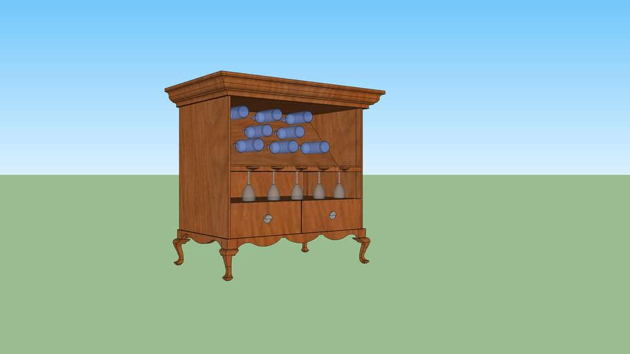 Wine bottle/ glass/ multi purpose drawers storage