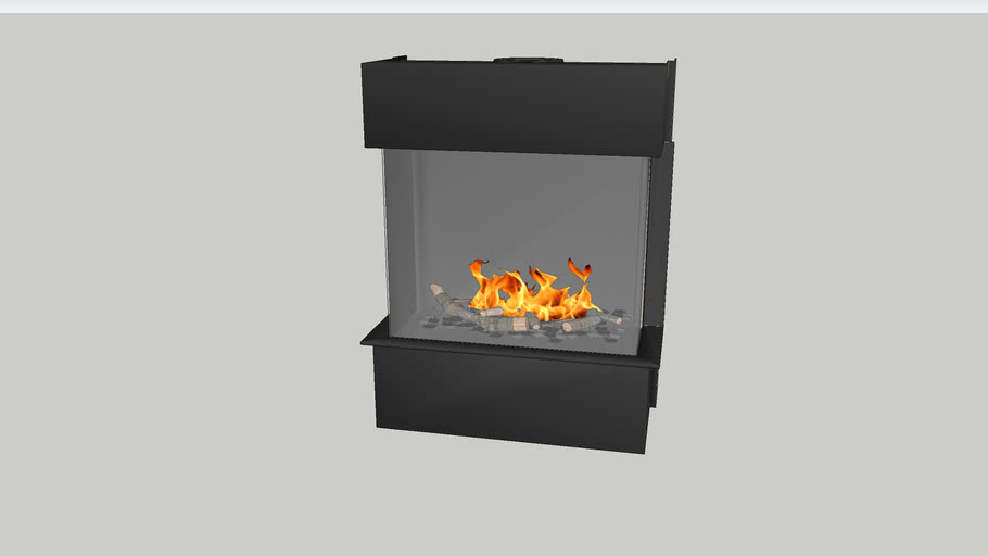 Barbas Gas Fire Panorama 70-55 with 6 cm frame