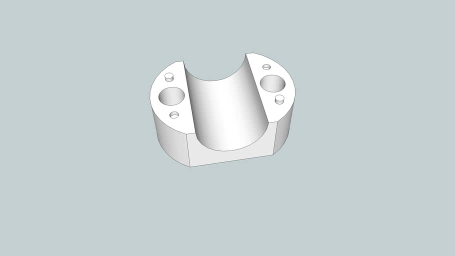 shortened friction bearing - scaled 1% for casting