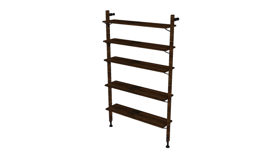 THEO WALL UNIT WITH LARGE SHELVES MKO166-S-L