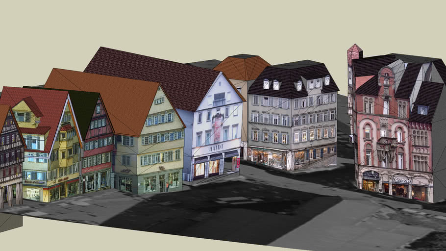 Virtual Tuebingen, Holzmarkt