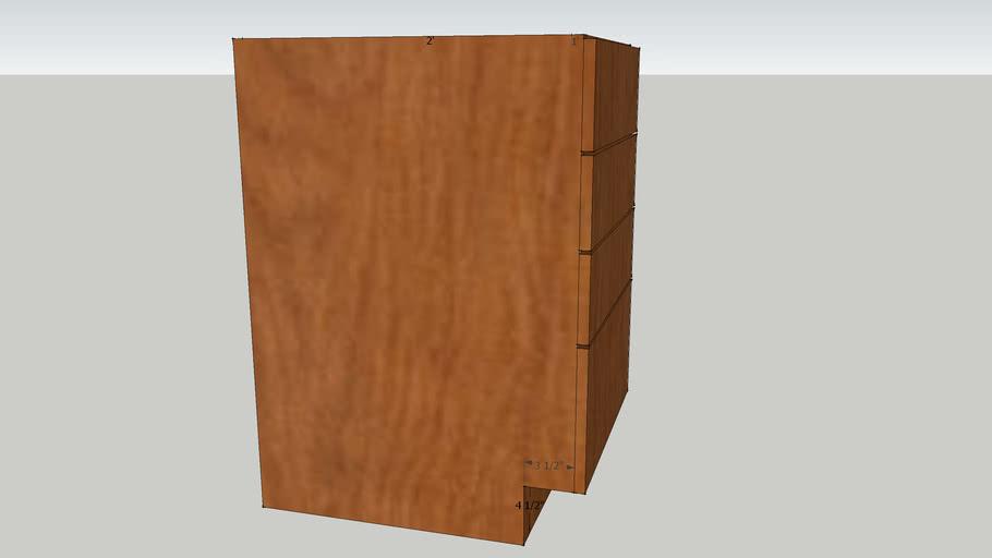 4 Drawer Kitchen Cabinet Frameless