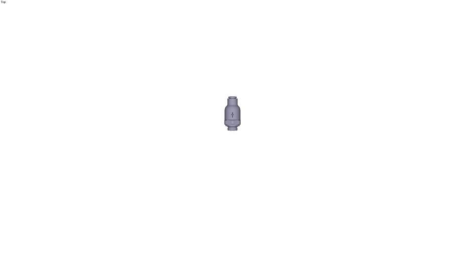 7984 - NON-RETURN VALVE SUPPLY FLOW PARALLEL & METRIC DIAM D 4 MM C G1/8