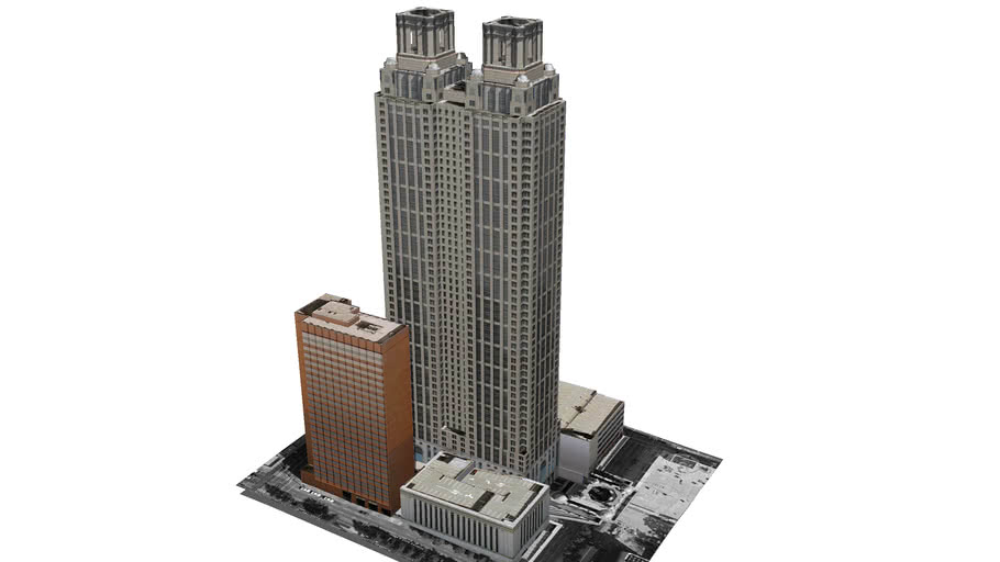Model of 191 Peachtree Tower