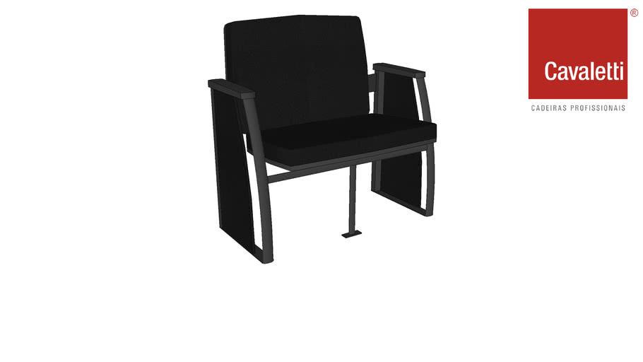 Cadeira Cavaletti Coletiva Auditório PMR 12020
