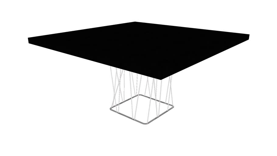 Clarges Dining Table In Glossy Black By