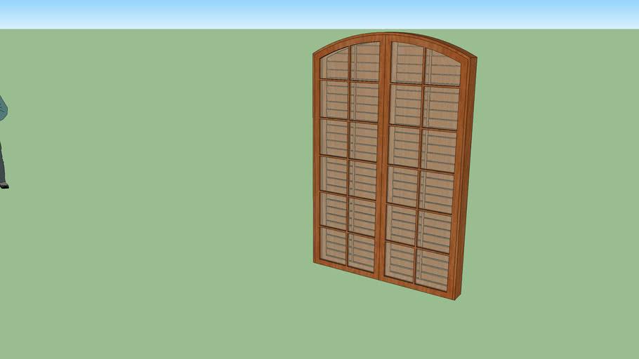 Porta Balcão Colonial Abrir 4 folhas