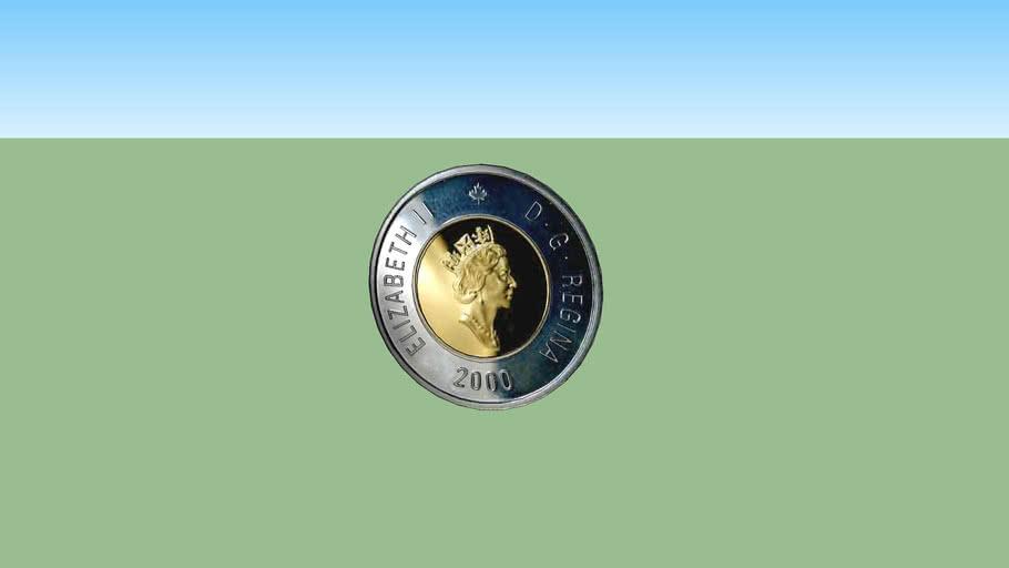 2 dollars Canadien