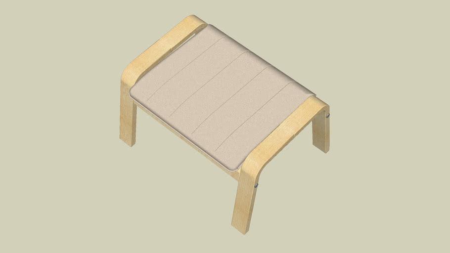 IKEA POÄNG Poggiapiedi, impiallacciatura di betulla, Robust Glose avorio