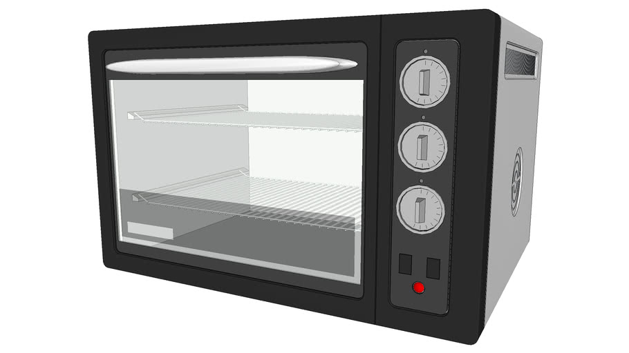 Countertop Toaster Oven - Detailed