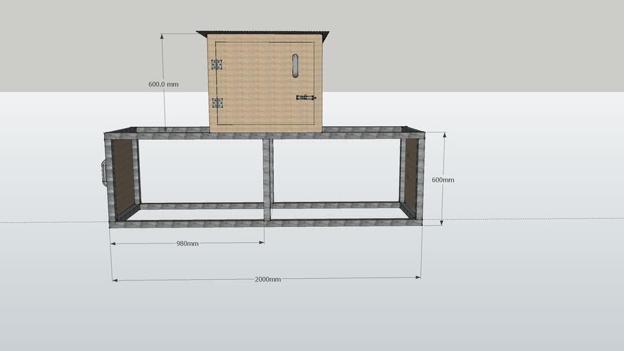 rabbit hutch or chicken coop with dimensions
