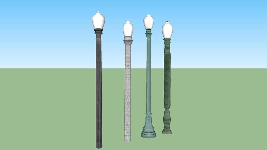 Acorn street lamp set