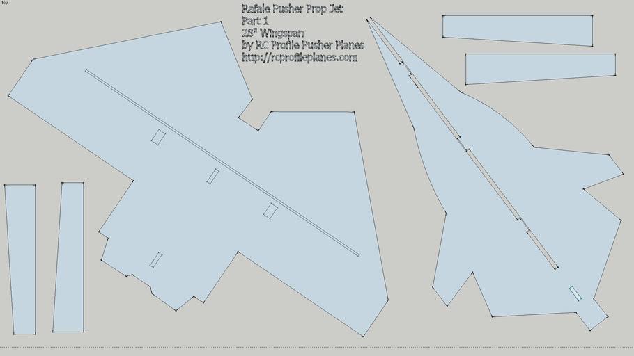 Rafale Pusher Prop Jet Plans Part 1 by RC Profile Planes