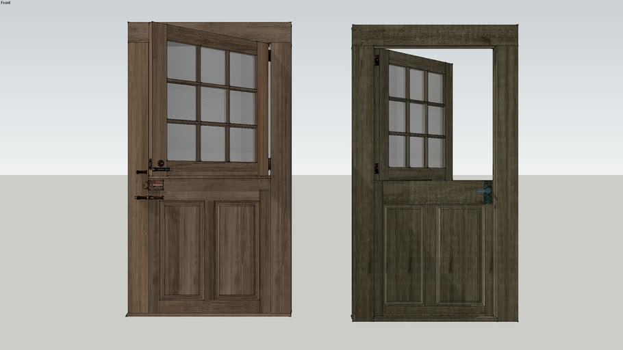 Weathered Oak Dutch Door