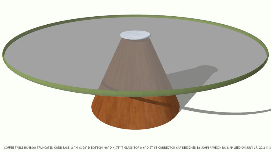 Coffee Table Truncated Dark Wood Cone