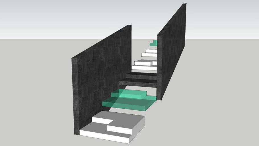 Diagonal staircase