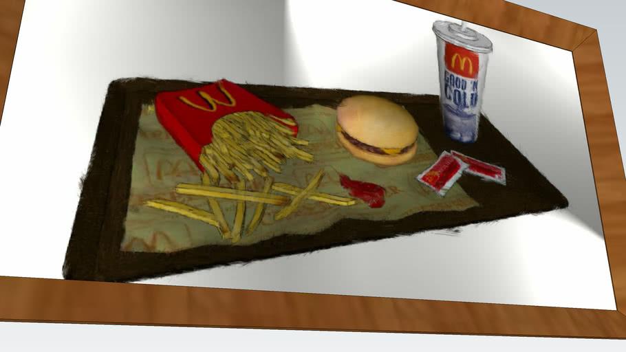 Psychopaint Rendering - McDonalds Meal, Burger & Fries w Drink