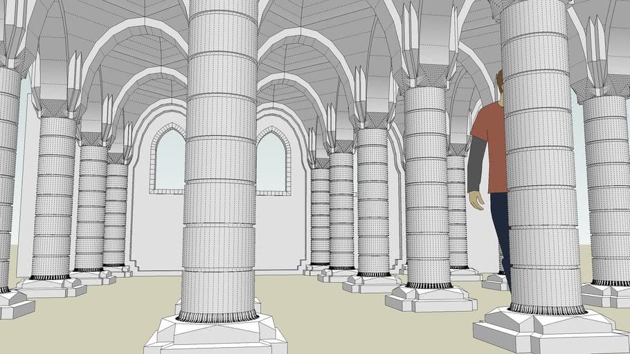 Tile-able interior pillar