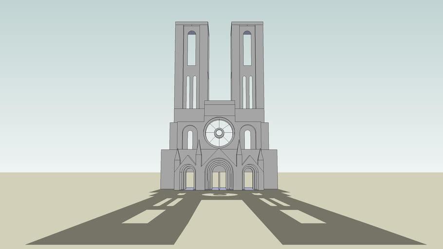 Die Kathedrale von Laon (Westeingang)