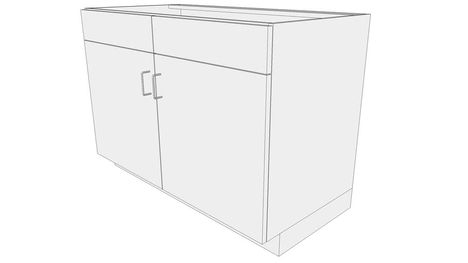 Sink Base Cabinet with 2 Doors 2 False Drawers