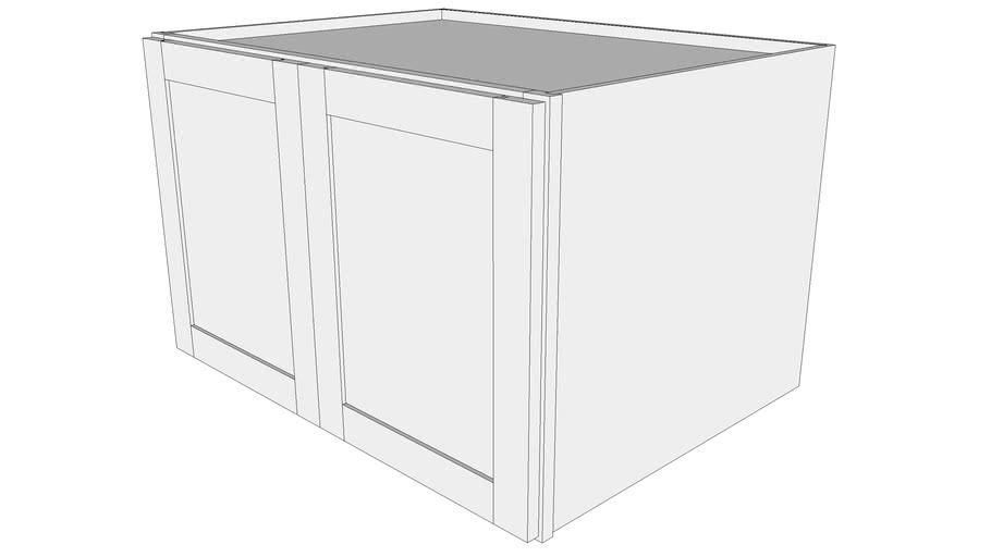 "Bayside Wall Cabinet 24W3321B - 24"" Deep, Butt Doors"