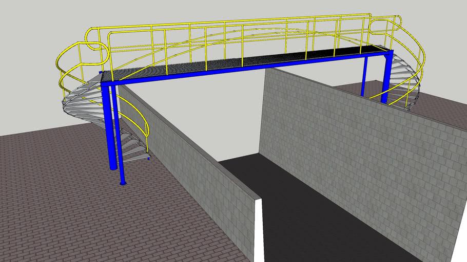 переходная площадка с винтовыми лестницами