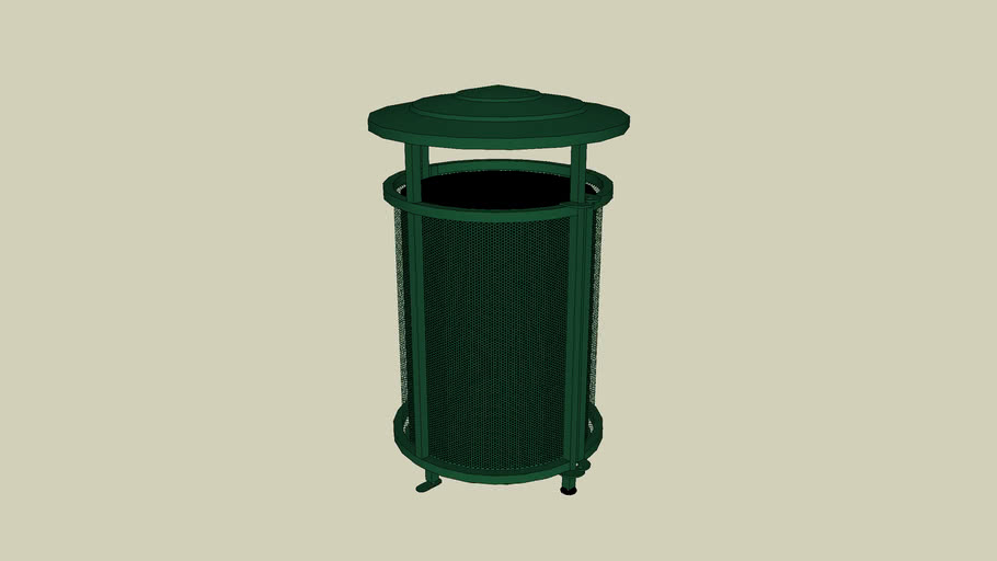 Forms+Surfaces® Urban Renaissance™ Receptacle, 36 gallon, side opening, Vista grillwork