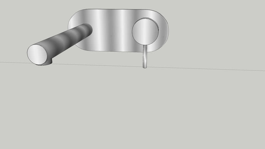 ABEY LUCIA WALL BASIN MIXER