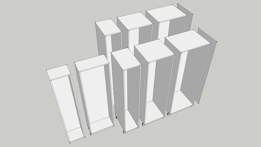 Ikea Akurum Tall Kitchen Cabinets Precise Measurements 3d Warehouse