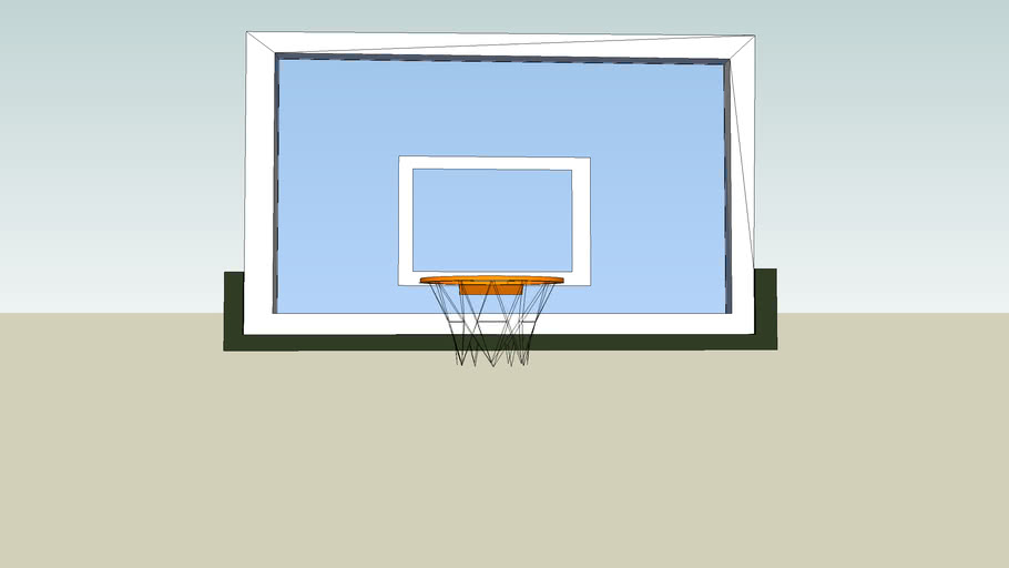 Basketball backboard & hoop