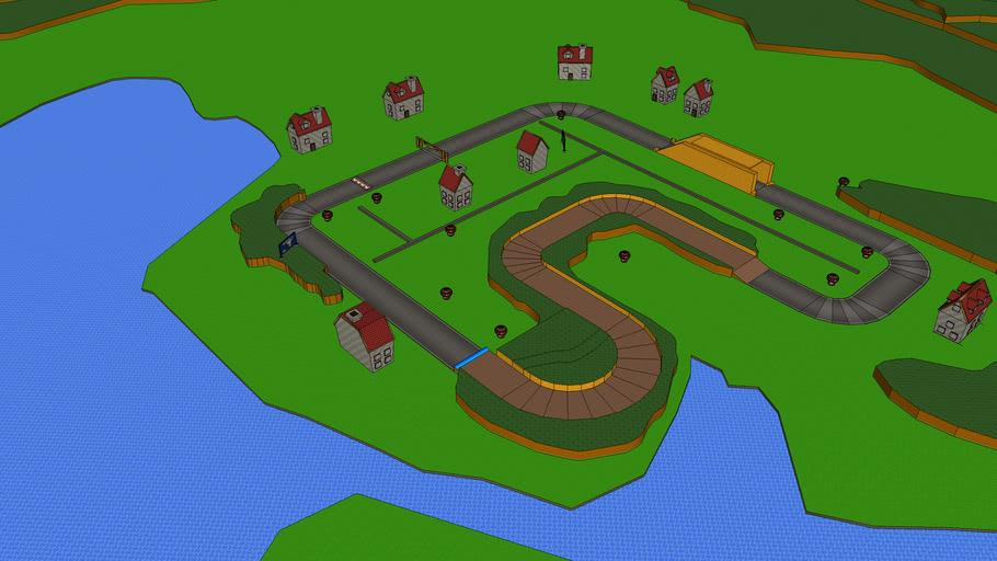 MKWii - 4ITClown's Road (Custom Track)