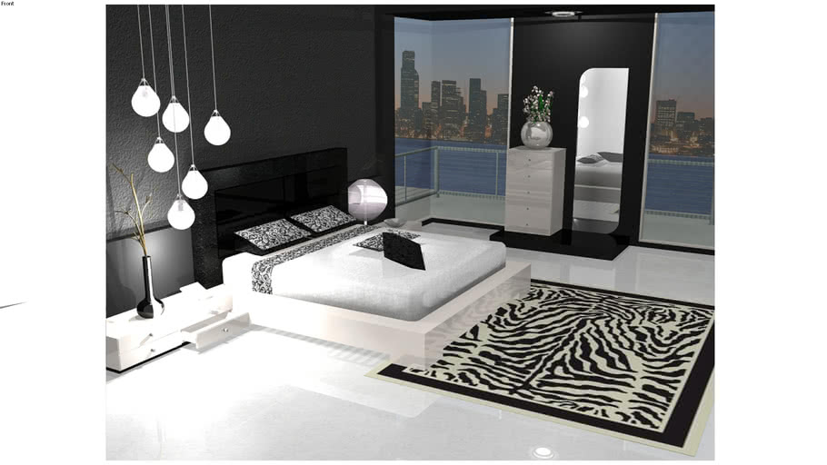The Black & White Bedroom