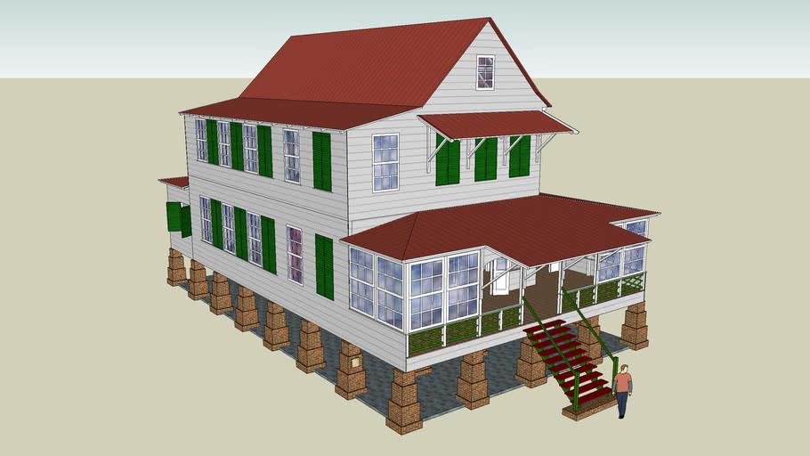 Suriname, Sorgvliet plantation house