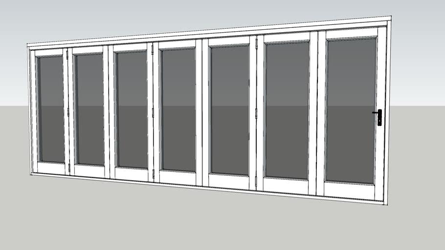 Valdi - Folding Sliding Door - 7 Door [White]