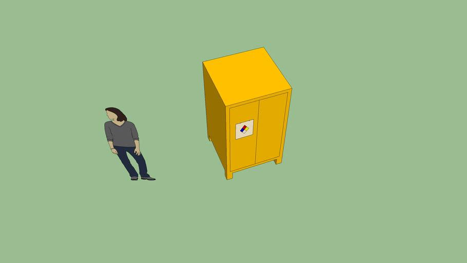 mueble de residuos peligrosos