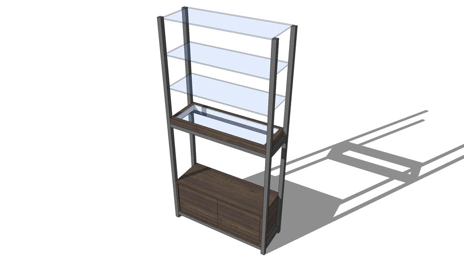 Shop display stand glass shelve