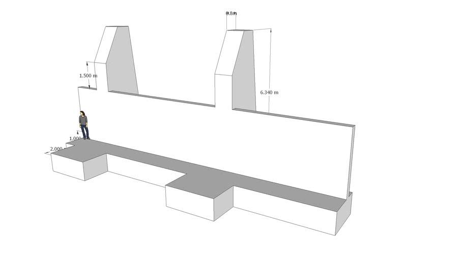 Esquema Muro F1-M2-F1