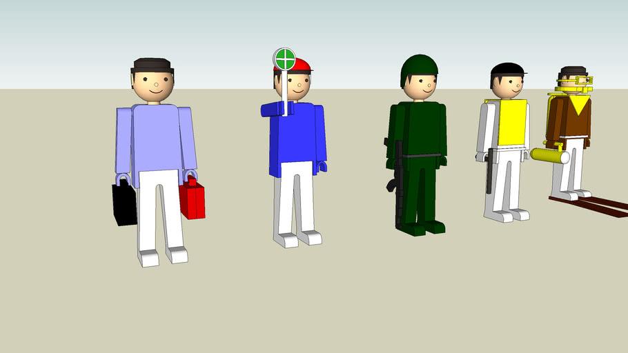 Igra plastic figures