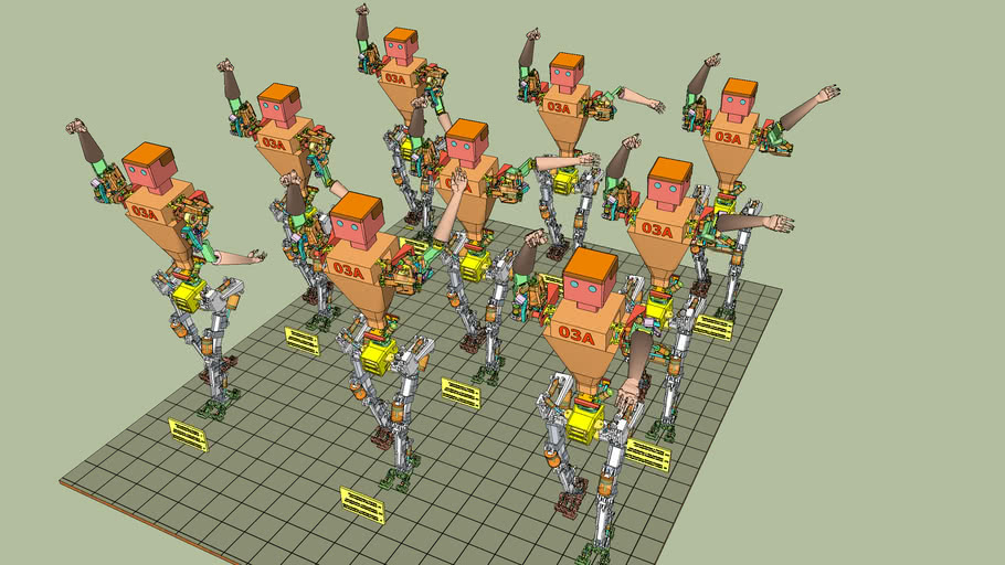 Robot Arms and Legs full abduction series v464.skp