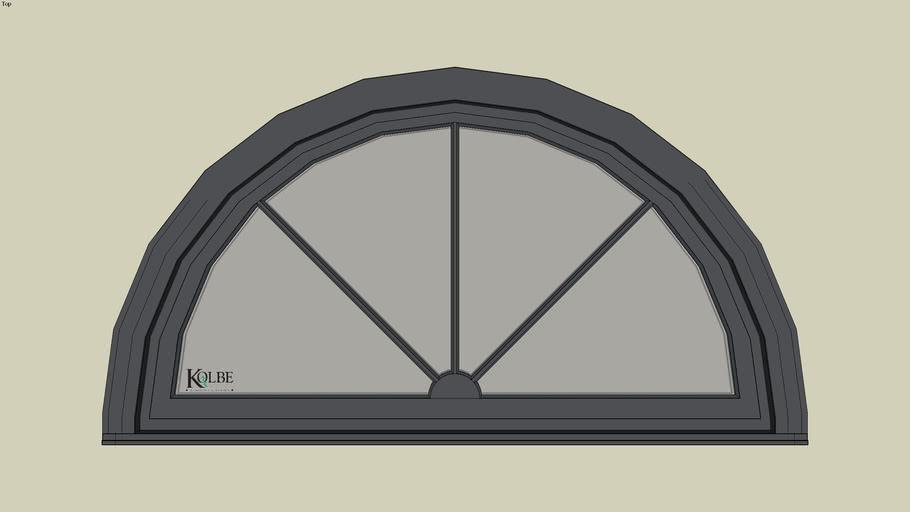 """Kolbe Ultra Half-Circle Inswing URTS511 F.S. 5'-11 7/16"""" x 3'-2 23/32""""R.O. 5'-11 15/16"""" x 3'-3 7/32"""""""