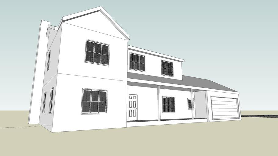 4 Bedroom House w/ interior walls