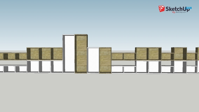 Ikea Besta Blanc Et Noyer Structures 3d Warehouse