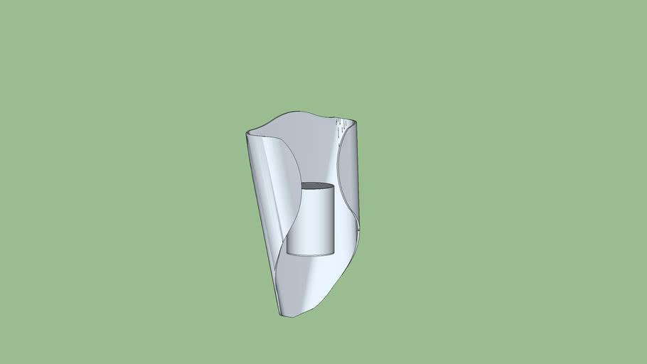 Wall lamp steel metalic