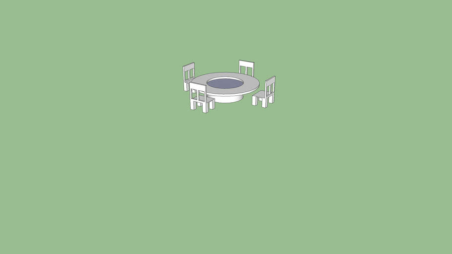Circle table with four chairs