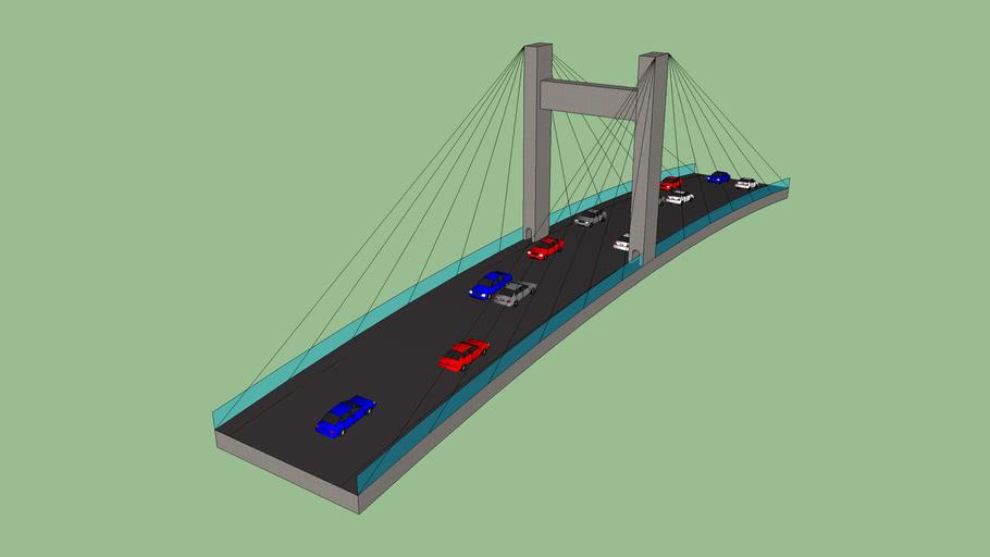 Arched Cable Bridg