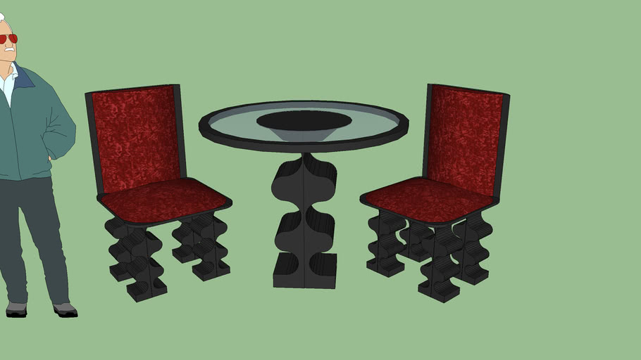 TABLE CHAIRS 3PC