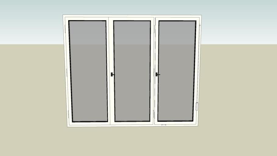 Window 3 panes 180 x 150 cm
