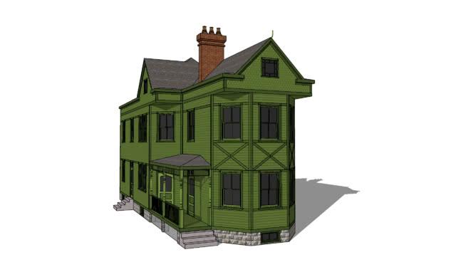 Narrow Queen Anne House