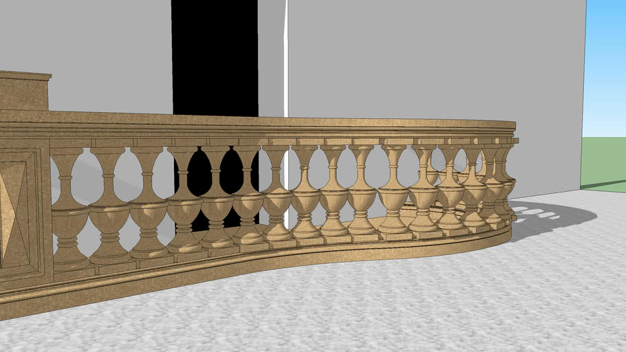 terrace with casted balustrade