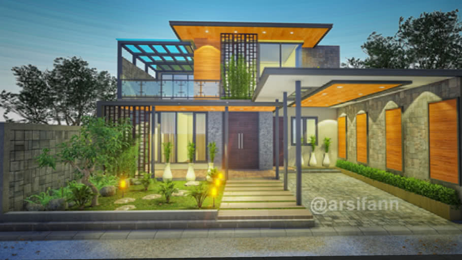 Modern House Industrial Arsifan 3d Warehouse